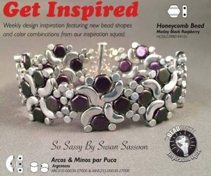 Pinwheel Arco Bracelet in Beadsmith Ad