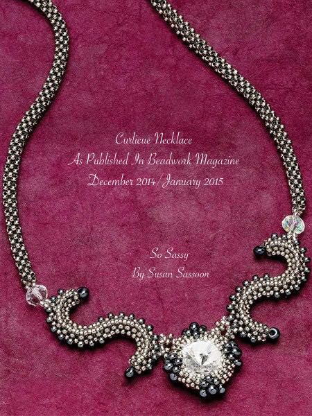 Beadwork Magazine Dec/Jan 2015 Curlicue Necklace