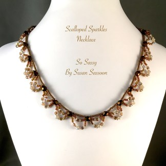 Scalloped Sparkles Necklace Tutorial