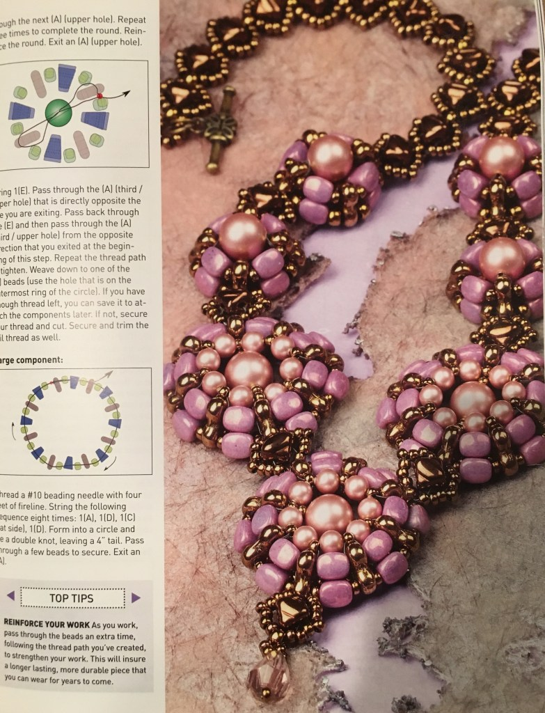 Bead & Jewellrey Magazine April/May 2018: Nib bit and Trinity Necklace