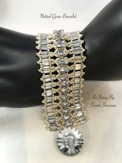 Netted Gems Braclet Tutorial by So Sassy By Susan Sassoon