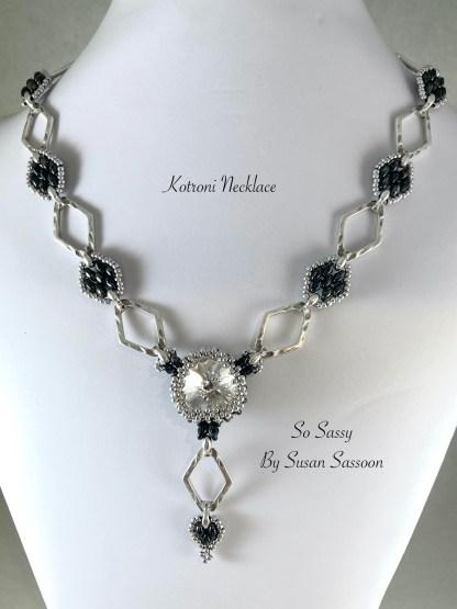 Kotroni Necklace Black Silver
