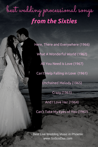 bride's processional songs