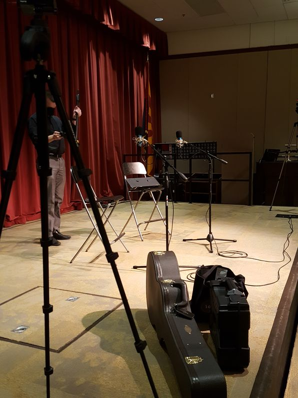 tempe flute guitar concert videotaped during pandemic