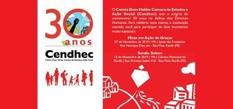 CENDHEC comemora 30 anos de luta em defesa dos Direitos Humanos