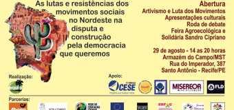 Seminário Nordeste de Conjuntura começa dia 29 em Recife com tarde de resistência e aula pública