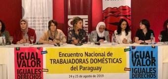 Mujeres palestinas interesadas en la lucha de las trabajadoras domésticas de Paraguay