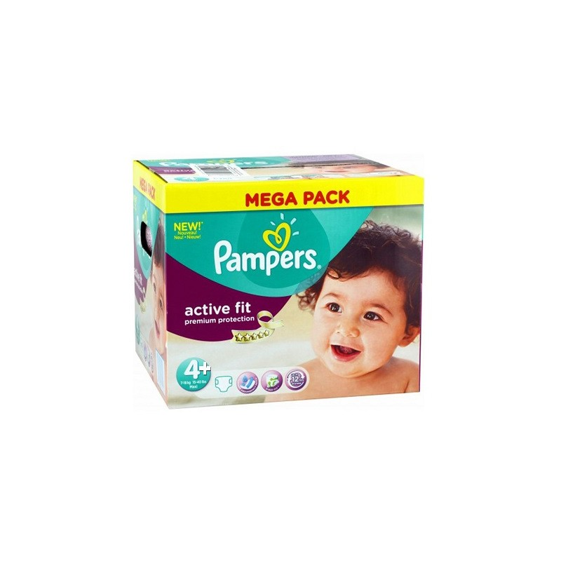 12 couches pampers active fit taille 4 sur sos couches