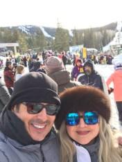 Selfie at the ski resort.