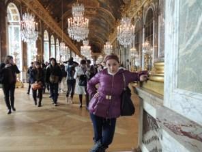 En el salón de los espejos del Versalles.
