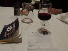 Comimos en un restaurante chino (muy rico, por cierto), y yo agarré la jarra, de chianti.
