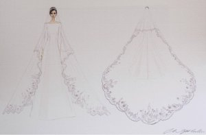 meghan markle bride dress sketch