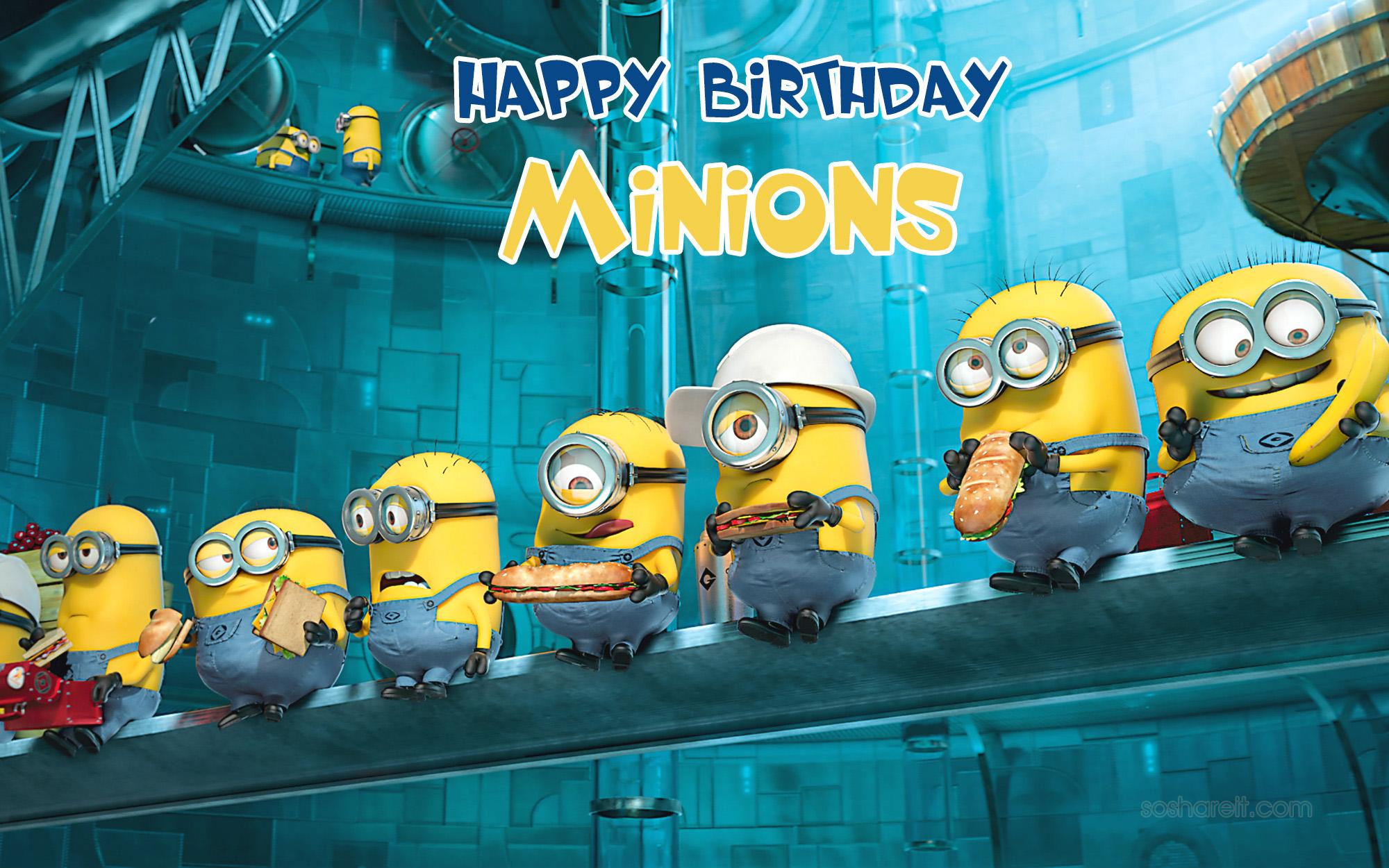 happy birthday minions wishes
