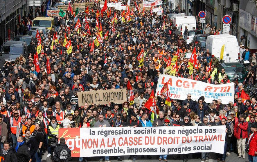 Perancis : Kelas Pekerja dan Anak Muda Bantah Undang-Undang Anti-Pekerja