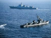 Kapal Tentera Amerika Syarikat dan China di Perairan Laut Cina Selatan
