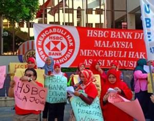 Aksi Piket Pekerja HSBC – Perjuangan Kelas Pekerja Sedang Berkembang Di Era 'Malaysia Baru'!