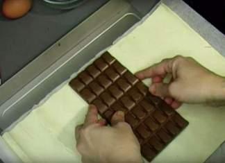 Pakk sjokoladeplaten inn i smørdeig....og NYT!