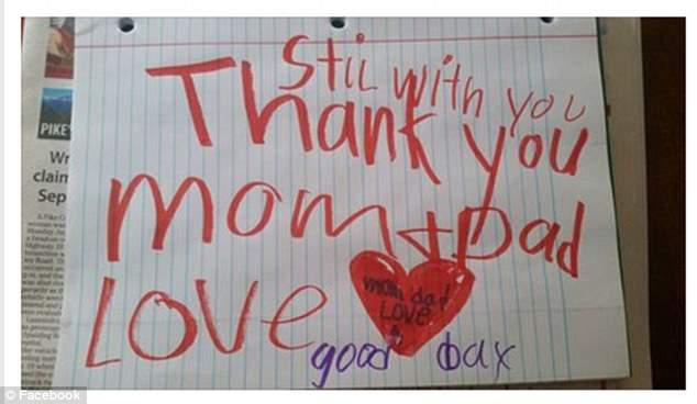 """""""Jeg er fremdeles hos dere. Takk mamma og pappa."""""""