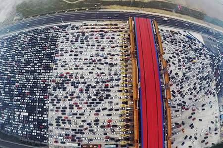 kø i trafikken i kina