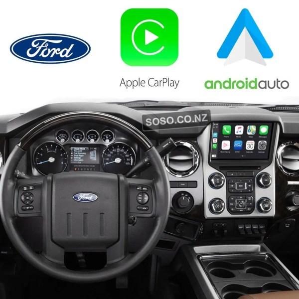 Auto Retrofit - Ford F-250 F-350 Superduty Wireless 2013~2017 Apple Carplay &Amp; Android Auto Integration Kit