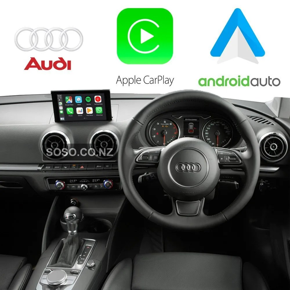 Auto Retrofit - Audi A3 S3 Rs3 (2012-2018) Apple Carplay &Amp; Android Auto Retrofit Kit