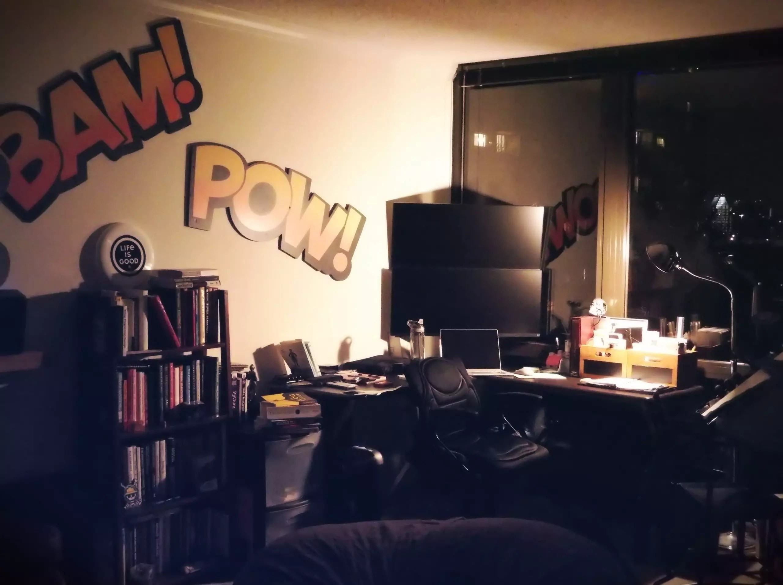 A picture of my creative space at home.