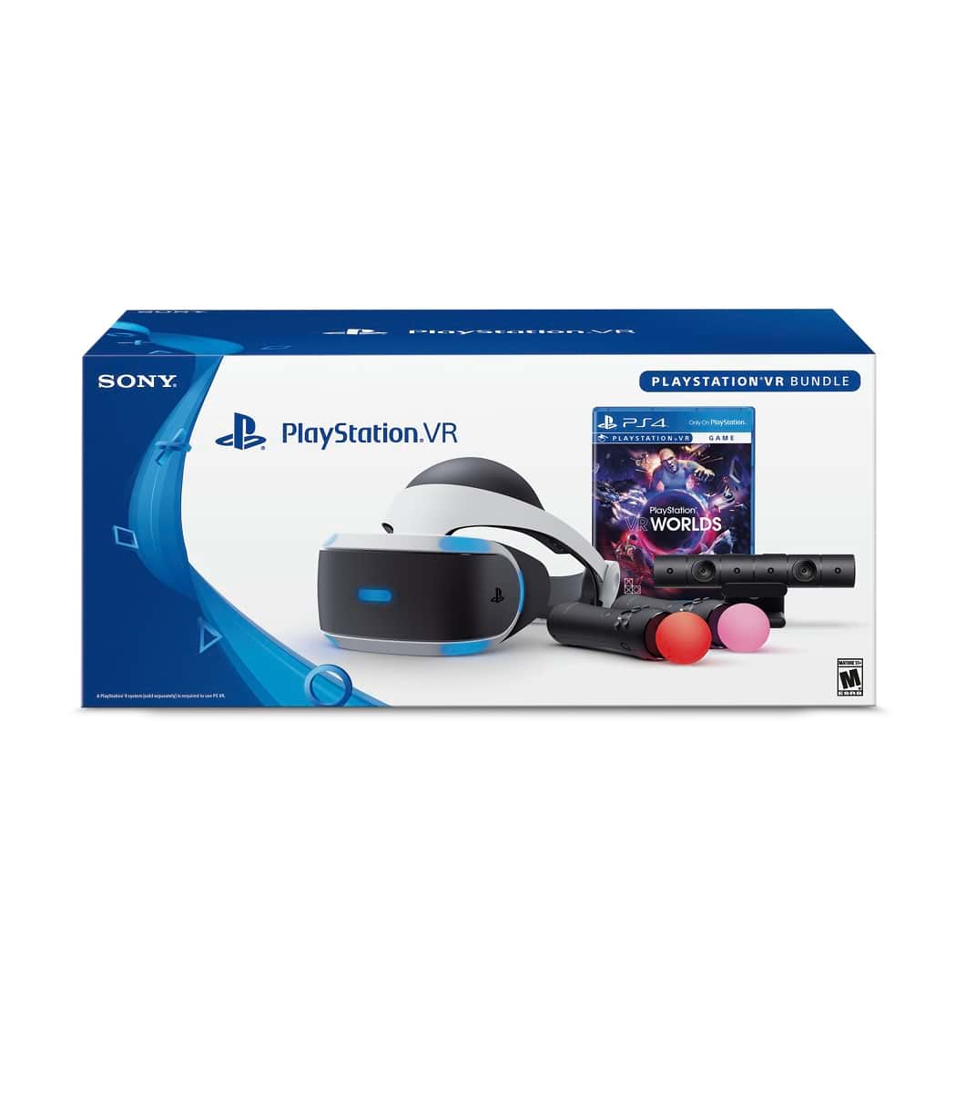 """Playstation Vr """"Starter Plus Pack"""" + Vr Worlds + Twin Move Controllers + Camera V2"""