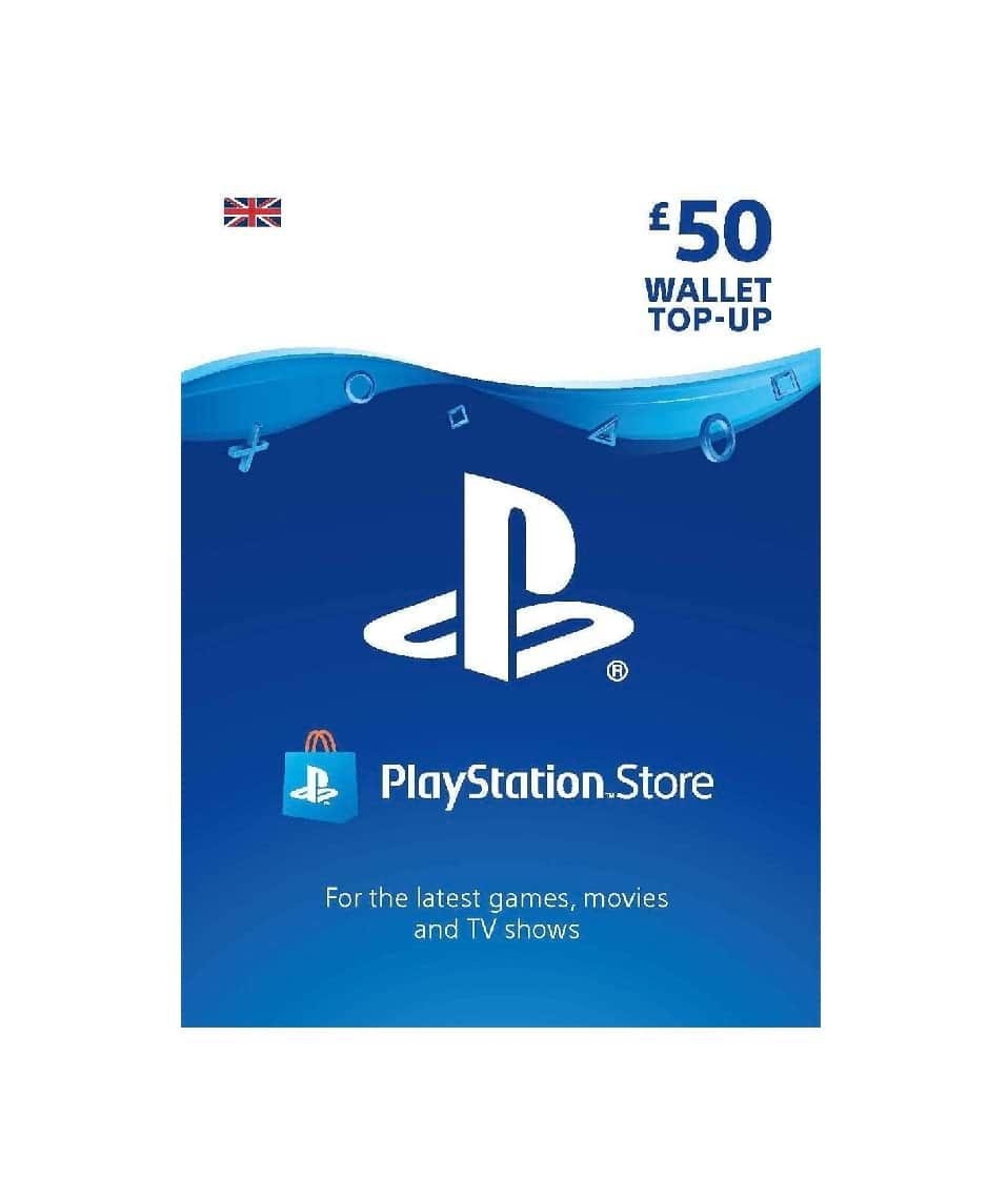 £50 Gbp Playstation Wallet Top Up Uk Account