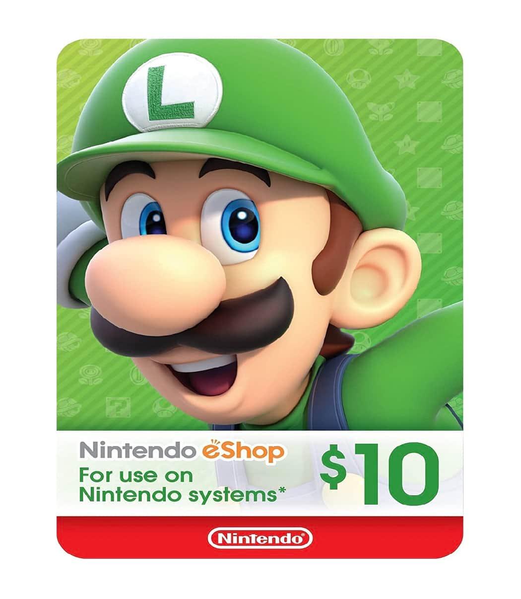 Nintendo $10 Eshop Card Sosogames