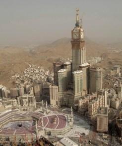 2-1. მექას სამეფო საათის კოშკი, 601 მ, აბრაჯ-ალ-ბეითის შენობების კომპლექსი, მექა, საუდის არაბეთი