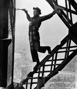 Eiffel Tower Painter by Marc Riboud