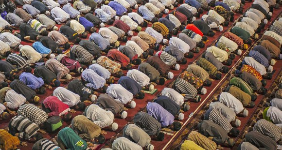 Muslims in prayer