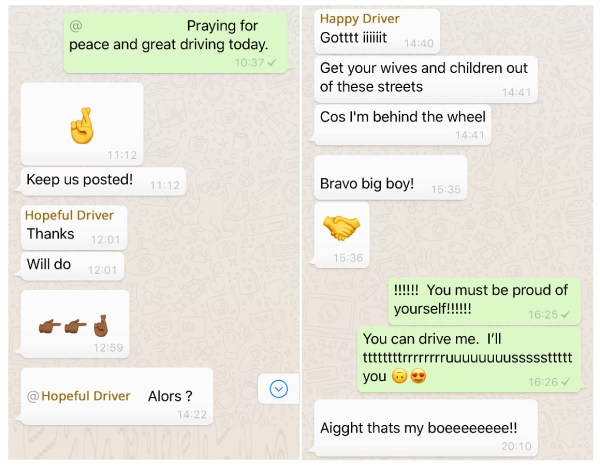 Fun family conversation