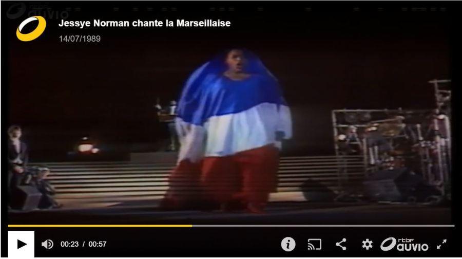 Jesse Norman sings La Marseillaise