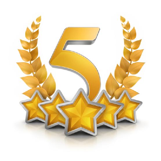 5 نجوم-شعار- png-