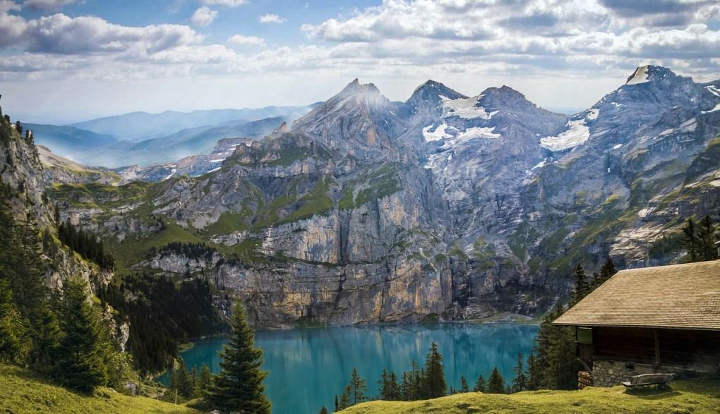 mountains, bergsee, lake