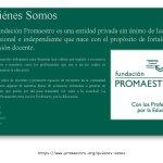 Página web: Fundación Promaestro
