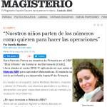 Artículo Sara Herrera en Magisterio