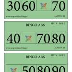 Cartones BINGO ABN: Fase 2 de la RESTA