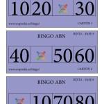 BINGO ABN: Cartones Resta Fase 9