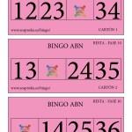 BINGO ABN: Cartones Resta Fase 10
