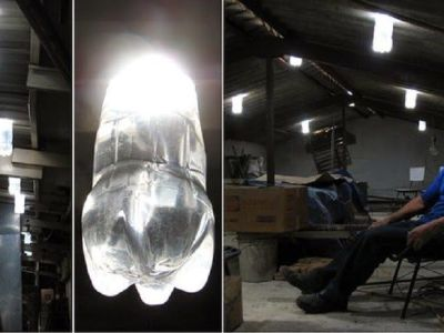 Cómo convertir botellas de plástico PET en eficaces lámparas de 50 W