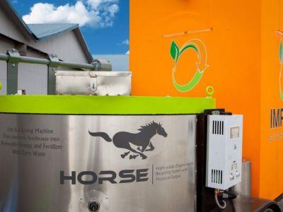 HORSE, la máquina que convierte basura orgánica en electricidad y abono