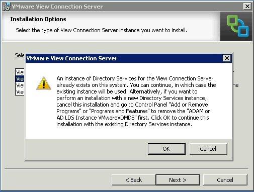 Error installing a VMware View Replica 5 2 server   SOSTechBlog com