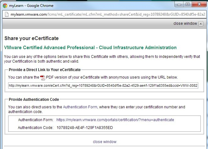 Show off your VMware Certification Status to the World