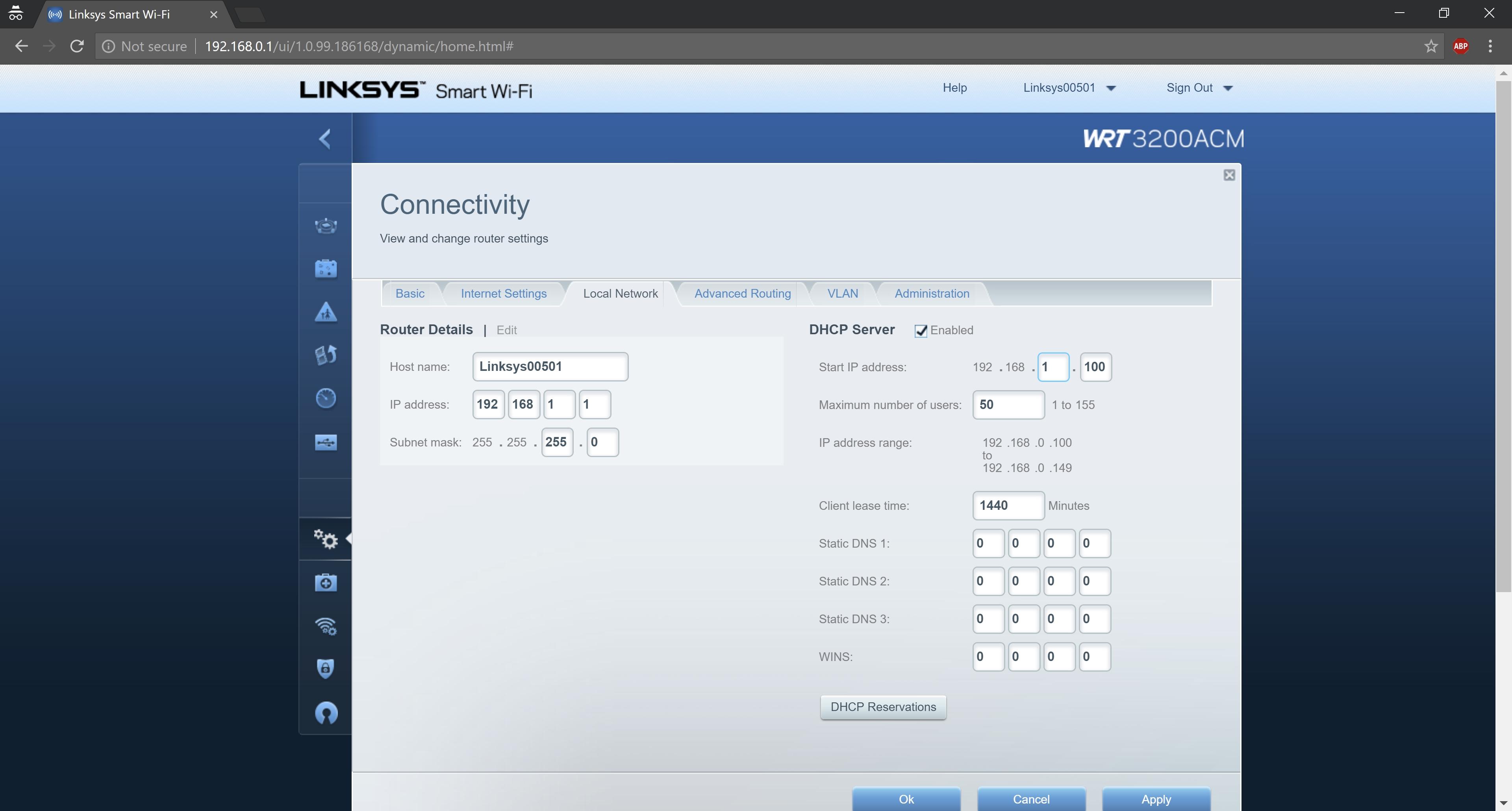 Linksys Ip Address >> Linksys Wireless Router Unexpected Error 2197 Sostechblog Com