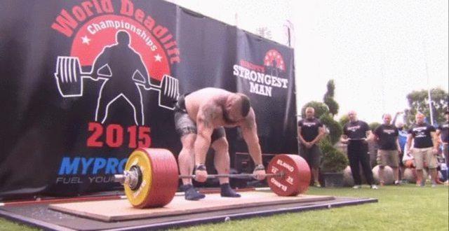 VIDEO Eddie Hall Deadlifts 1020lbs, Sets New World Record