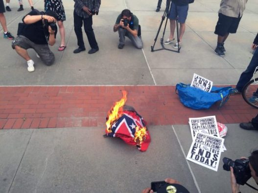 Flag Burning Event in Brooklyn Broke into Chaos
