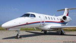 This Embraer Phenom 300 took off from Milan at 13:20 BST before crashing in Hampshire
