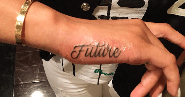 Blac Chyna Reveals New Tattoo Of Future's Name On Her Hand